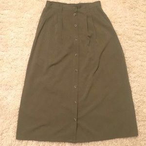 Vintage Olive Green Skirt